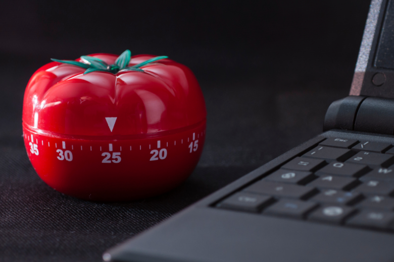 pomodoro technique timer to develop an important time management skill