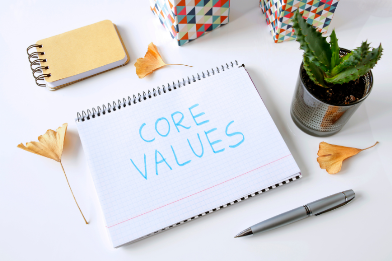 Make a list of your core values to become happier