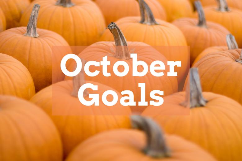 October goals with pumpkins