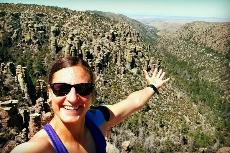 Me hiking in Chiricahua national park