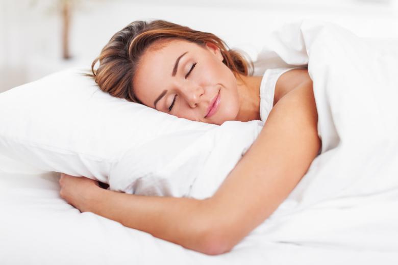 happy sleeping woman